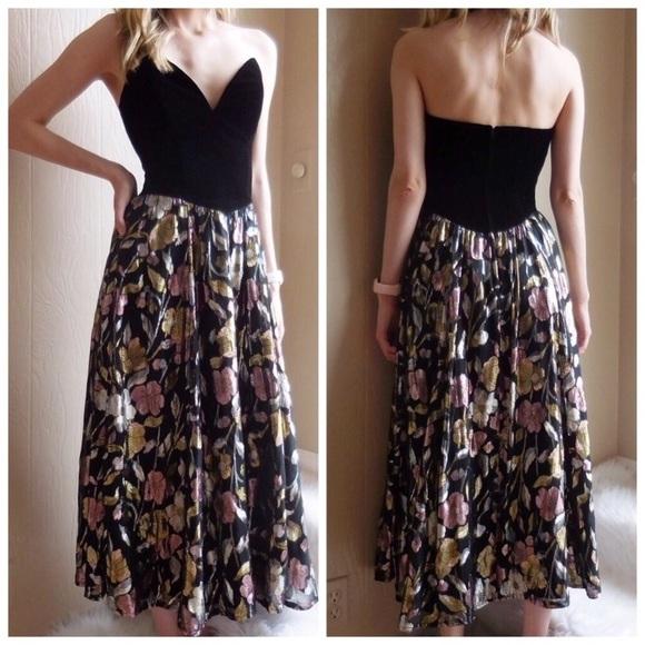Jessica McClintock Dresses & Skirts - Vintage Jessica McClintock Evening Maxi Dress